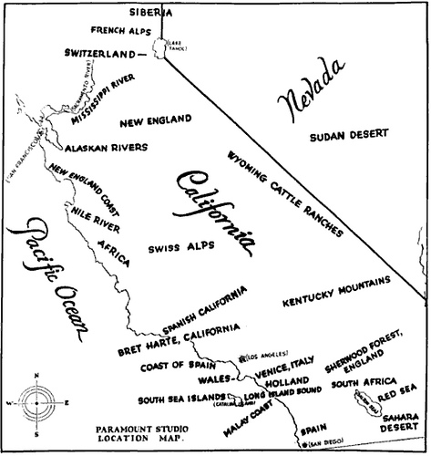 Paramount Location Shooting Map