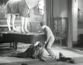 Laurel, Hardy, a Piano, and a Horse